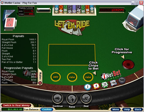 Play free let it ride poker next vip sale slot